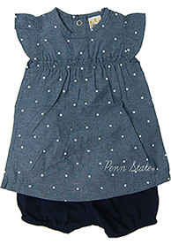 Penn State Nittany Lions Baby Girls Navy Blue Chambray Dress