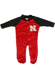 Nebraska Cornhuskers Baby Two Tone Cuddle Bubble Red Two Tone Cuddle Bubble One Piece Pajamas