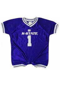 K-State Wildcats Baby Purple Football One Piece