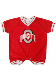Ohio State Buckeyes Baby Red Football One Piece