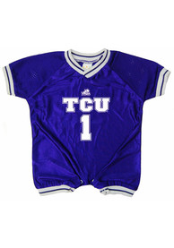 TCU Horned Frogs Baby Purple Football One Piece