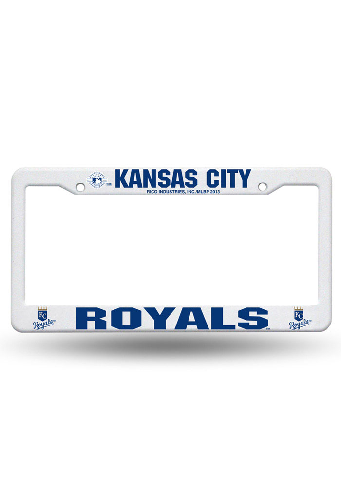 Kansas City Royals Plastic White License Frame - Image 1