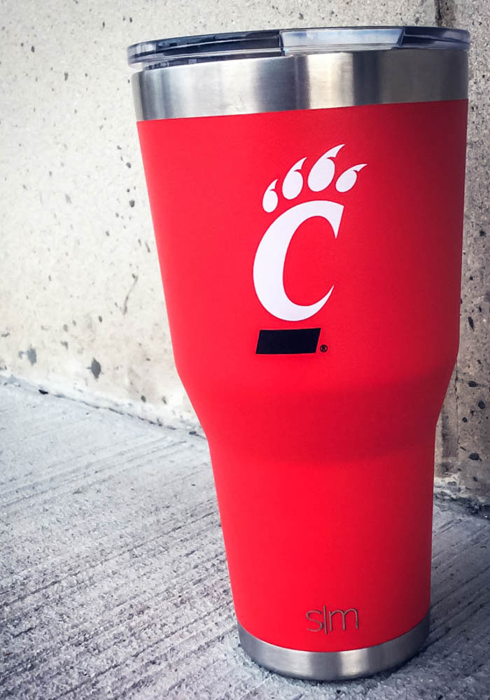 Cincinnati Bearcats 30oz Cruiser Red Stainless Steel Tumbler - Image 2