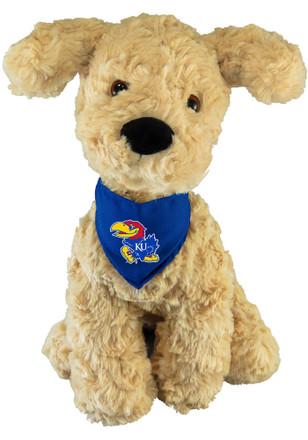 Kansas Jayhawks 9 Inch Golden Retriever Mighty Tyke Plush