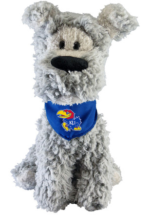 Kansas Jayhawks 9 Inch Schnauzer Mighty Tyke Plush