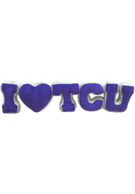 TCU Horned Frogs Team Letters Plush
