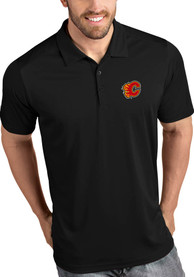 Calgary Flames Antigua Tribute Polo Shirt - Black