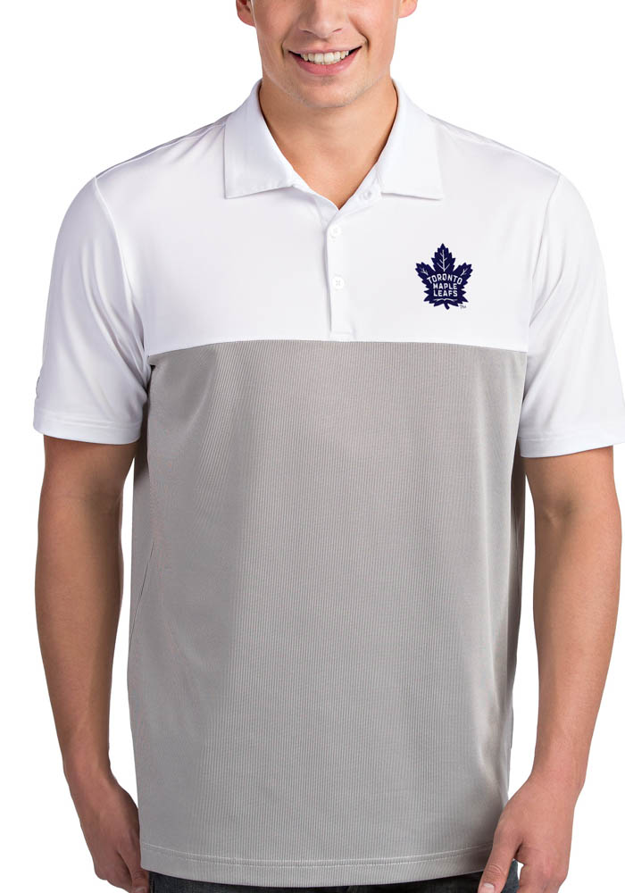 Antigua Toronto Maple Leafs Mens White Venture Short Sleeve Polo - Image 1