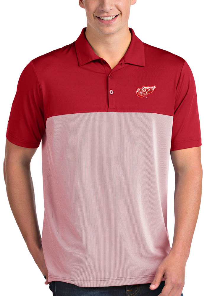 Antigua Detroit Red Wings Mens Red Venture Short Sleeve Polo - Image 1