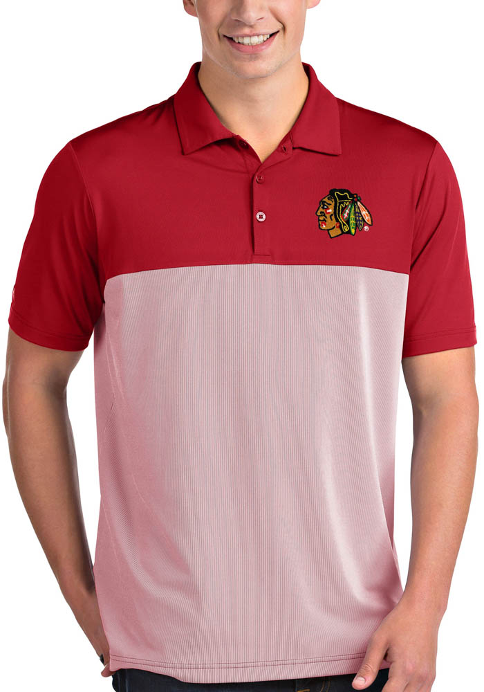 Antigua Chicago Blackhawks Mens Red Venture Short Sleeve Polo - Image 1