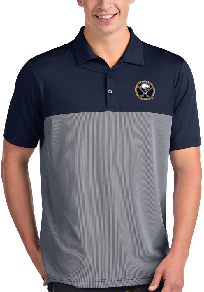 Antigua Buffalo Sabres Mens Navy Blue Venture Short Sleeve Polo - Image 1