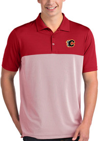 Calgary Flames Antigua Venture Polo Shirt - Red