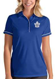 Antigua Toronto Maple Leafs Womens Blue Salute Polo