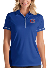 Antigua Montreal Canadiens Womens Blue Salute Polo