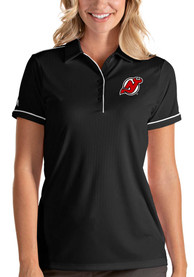 New Jersey Devils Womens Antigua Salute Polo Shirt - Black