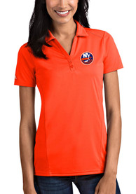 New York Islanders Womens Antigua Tribute Polo Shirt - Orange