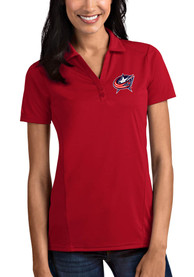Columbus Blue Jackets Womens Antigua Tribute Polo Shirt - Red