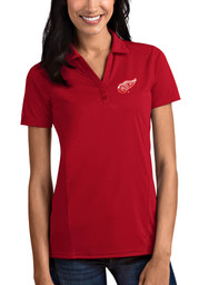 Antigua Detroit Red Wings Womens Red Tribute Short Sleeve Polo Shirt