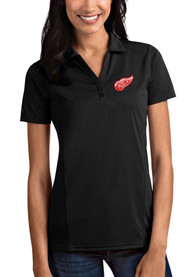 Antigua Detroit Red Wings Womens Black Tribute Polo