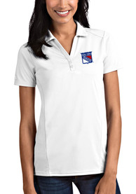 Antigua New York Rangers Womens White Tribute Polo