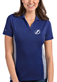 Antigua Tampa Bay Lightning Womens Blue Venture Polo