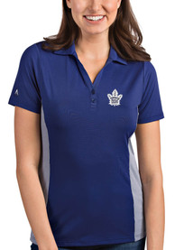 Antigua Toronto Maple Leafs Womens Blue Venture Polo