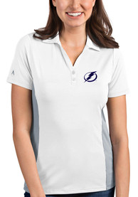 Antigua Tampa Bay Lightning Womens White Venture Polo