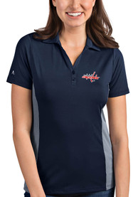 Washington Capitals Womens Antigua Venture Polo Shirt - Navy Blue