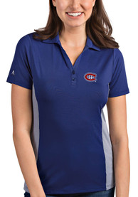 Antigua Montreal Canadiens Womens Blue Venture Polo