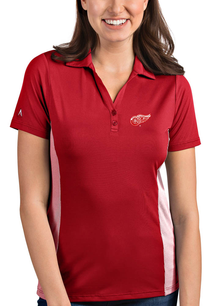 Antigua Detroit Red Wings Womens Red Venture Short Sleeve Polo Shirt - Image 1