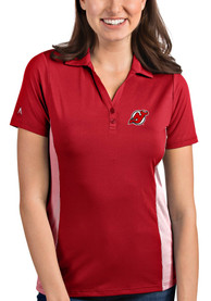 New Jersey Devils Womens Antigua Venture Polo Shirt - Red