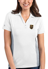 Antigua Vegas Golden Knights Womens White Venture Polo