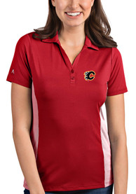 Calgary Flames Womens Antigua Venture Polo Shirt - Red