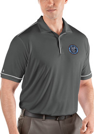 New York City FC Antigua Salute Polo Shirt - Grey