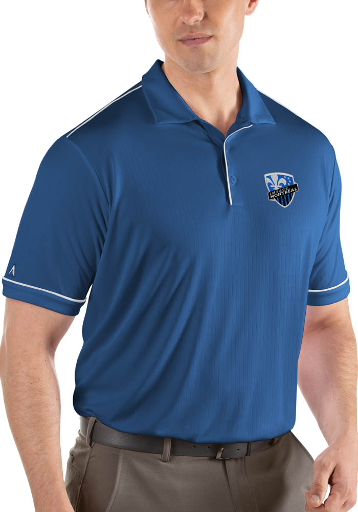 Antigua Montreal Impact Mens Blue Salute Short Sleeve Polo - Image 1