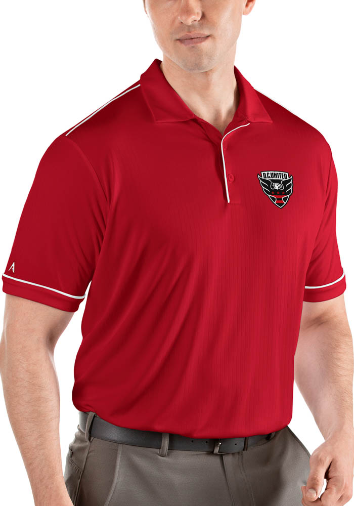 Antigua DC United Mens Red Salute Short Sleeve Polo - Image 1