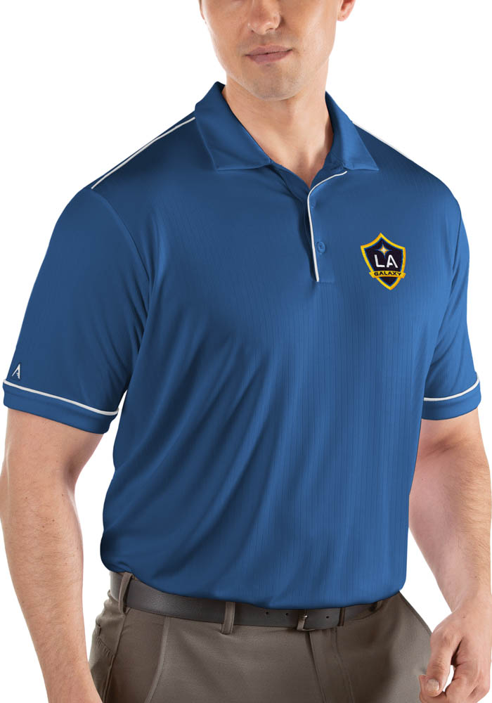 LA Galaxy Antigua Salute Polo Shirt - Blue