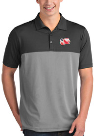 New England Revolution Antigua Venture Polo Shirt - Grey