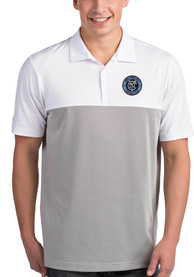 New York City FC Antigua Venture Polo Shirt - White