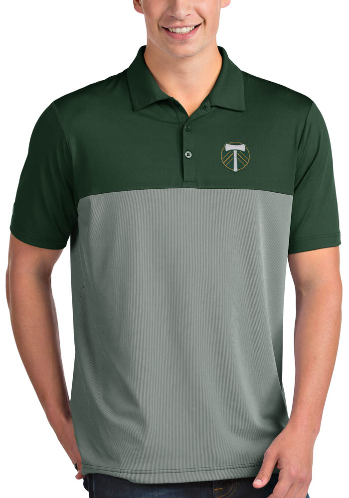 Antigua Portland Timbers Mens Green Venture Short Sleeve Polo - Image 1