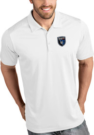 San Jose Earthquakes Antigua Tribute Polo Shirt - White