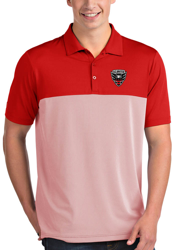 Antigua DC United Mens Red Venture Short Sleeve Polo - Image 1