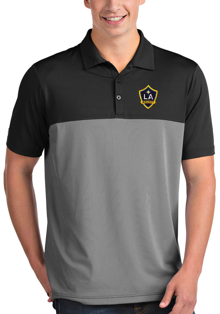 LA Galaxy Antigua Venture Polo Shirt - Black