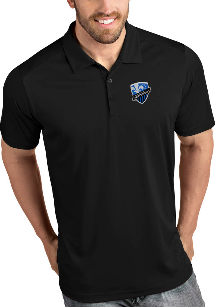 Montreal Impact Mens Black Tribute Short Sleeve Polo - Image 1