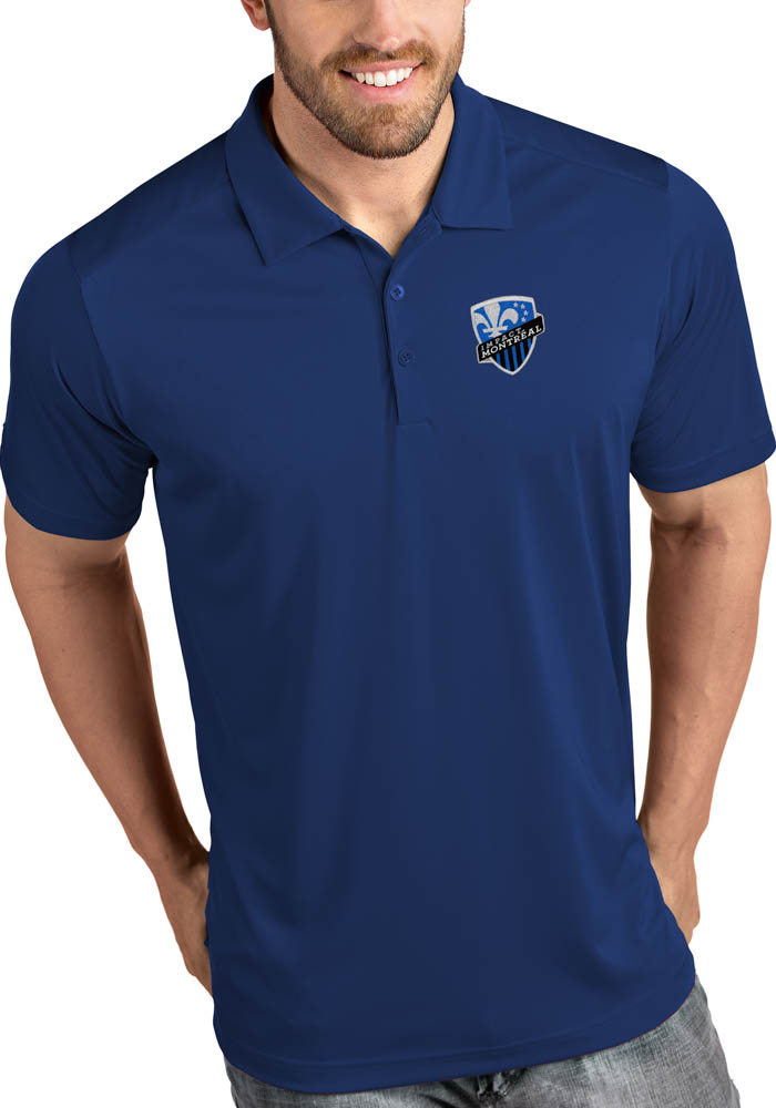 Montreal Impact Mens Blue Tribute Short Sleeve Polo - Image 1