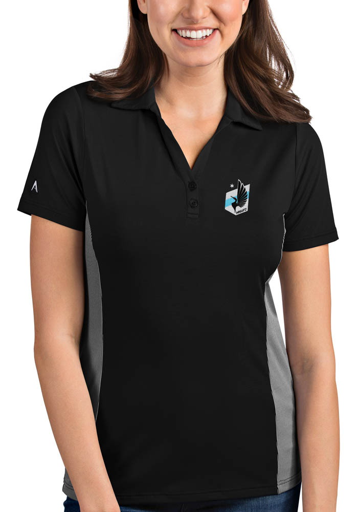 Minnesota United FC Womens Antigua Venture Polo Shirt - Black