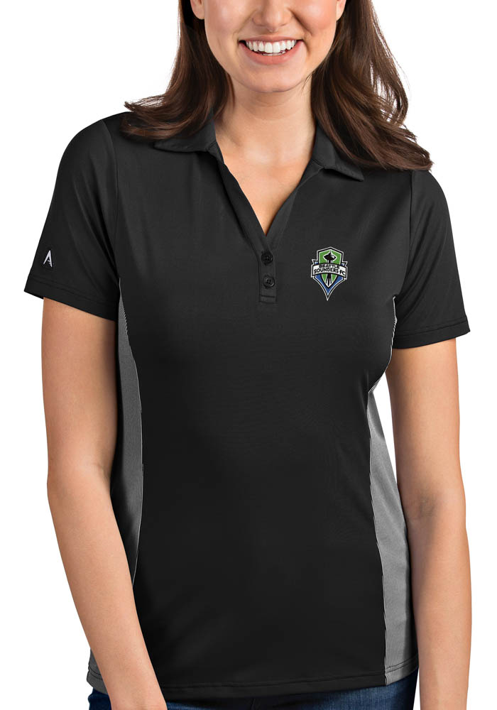Seattle Sounders FC Womens Antigua Venture Polo Shirt - Grey