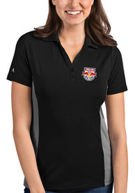New York Red Bulls Womens Antigua Venture Polo Shirt - Black
