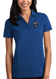 San Jose Earthquakes Womens Antigua Tribute Polo Shirt - Blue