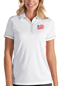 New England Revolution Womens Antigua Salute Polo Shirt - White